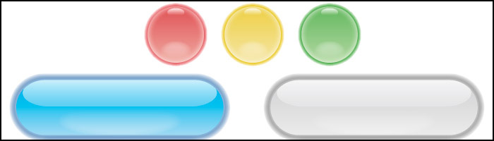 Mac OS X風のボタン