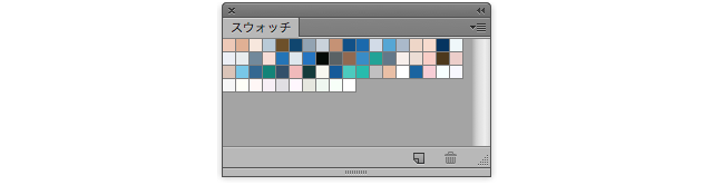 ▼Photoshop CS6のスウォッチパネル単体で撮影