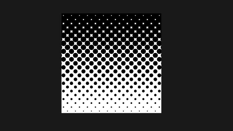 「1.」〜「4.」までの手順で作成した水玉で、「5.」で追加した色はまだ隠れている