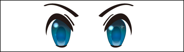 萌えキャラの目。自分で言うな。