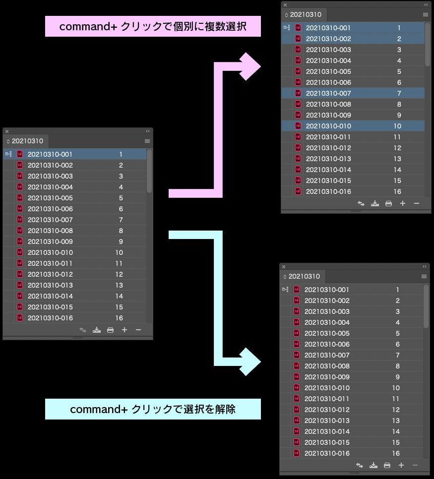 command+クリックの挙動